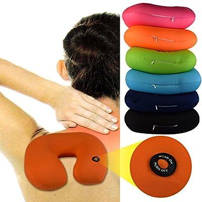 (093) NACKENKISSEN (Pink) Massagegerät KISSEN Reisekissen Vibration NACKENHÖRNCHEN