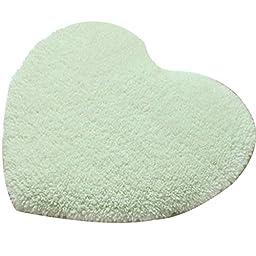 White Heart Shape Anti-slip Rugs Home Indoor Carpets