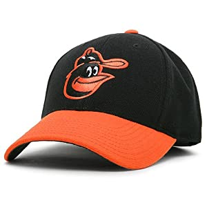 Baltimore Orioles 1966-74 Cooperstown Fitted Cap - Black Orange 7 1 8 by MLB