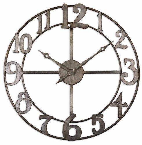 Delevan Metal 32.25-in. Wall Clock [Kitchen] MP: 06681 MPN: 06681