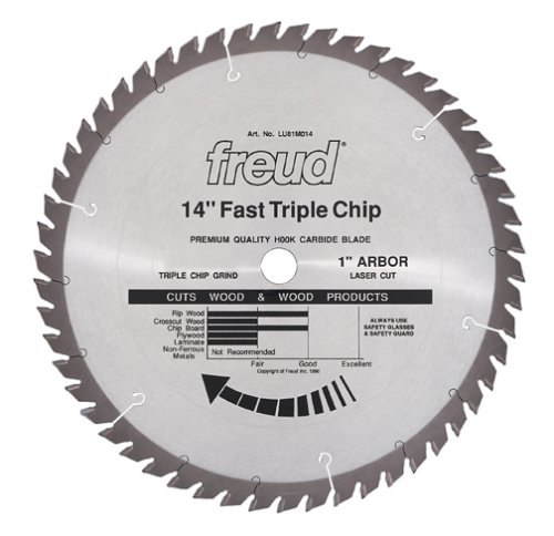 Freud LU81M014 14-Inch 56 Tooth TCG Stacked Chipboard Cutting Saw Blade with 1-Inch Arbor