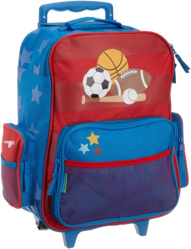 Stephen Joseph Little Boys' Rolling Luggage, Sports, One Size