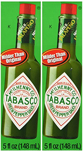 Tabasco Brand Green Jalapeno Pepper Sauce Pack of 2 (Tabasco Jalapeno Sauce compare prices)
