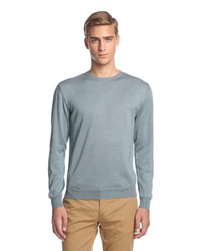 Calvin Klein Collection Men's Microdot Jacquard Crew Neck Sweater