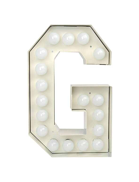 "Lettera In Metallo Con Lampadine A Led ""Vegaz"" H. Cm. 60 - G"