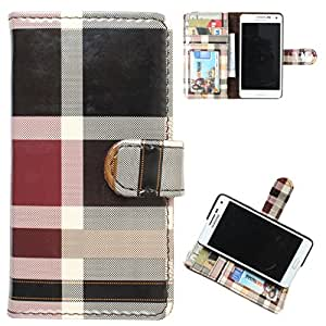 DooDa PU Leather Wallet Flip Case Cover With Card & ID Slots LG L BELLO(D335)
