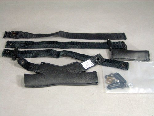Gentex HGU-55/P- HGU-68/P Leather Chin & Nap Straps Set Pilot Flight Helmet Large