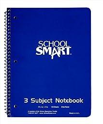 School Smart 085267 Spiral Bound Notebook, 1 Subject, 10-1/2\