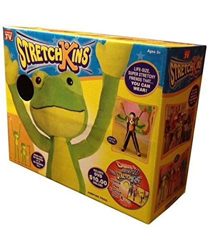 Stretchkins Frog Life-size Plush Toy That You Can Play, Dance, Exercise and Have Fun With