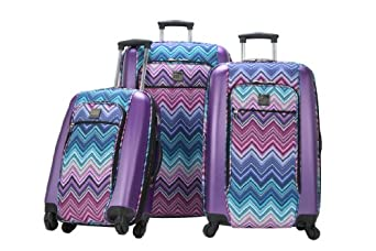 Ricardo Beverly Hills Luggage Berkeley 3-Piece Luggage Set, Fiji Jag, One Size