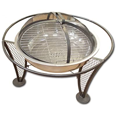 Majestic El Fuego 70 Stone Surround Fire Pit And Grill from Majestic
