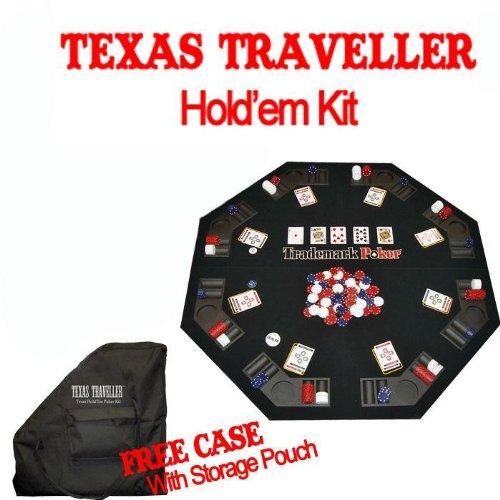 TEXAS TRAVELLER – Table Top & 300 Chip Travel Set
