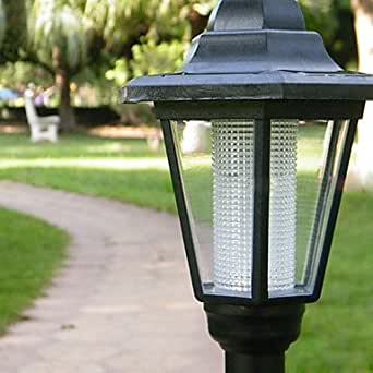m m solar white light garden path led lamp with high stand