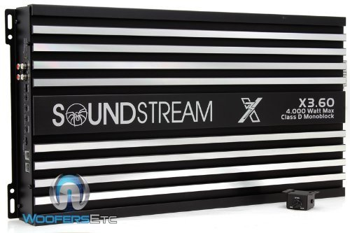 X3.60 - Soundstream X3.60 4000W Max Class D Monoblock High Performance Competition Amplifier