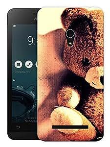 "Humor Gang Fluffy Teddy Bear Printed Designer Mobile Back Cover For ""Asus Zenfone 5"" (3D, Matte, Premium Quality Snap On Case)"