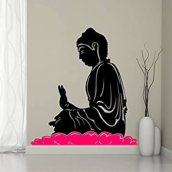 Buy SRG India Buddha In Meditation Multicolor Wall Decal Online At - Wall decals india