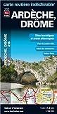 Ardèche (07), Drôme (26) - Carte Départementale Routière et Touristique (échelle 1/180 000)