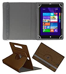 Acm Designer Rotating Case For Notion Ink Cain 10 Stand Cover Brown