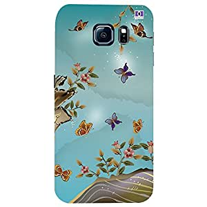 Beautiful Butterfly - Mobile Back Case Cover For Samsung Galaxy S6 Edge