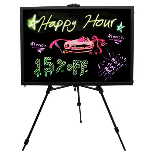Led Fluorescent Lighted Display & Dry-Erase Message Writing Board