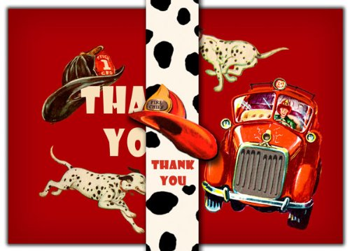 Dolce Mia Firefighter Thank You Card - Pack of 10 - 1