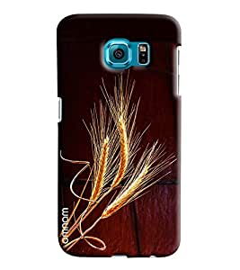 Omnam Wheat Leaves Printed Designer Back Cover Case For Samsung Galaxy S6