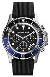 Michael Kors MK8365 Men's Everest Sports Black & Blue Bezel Black Dial Black Rubber Strap Chronograph Watch