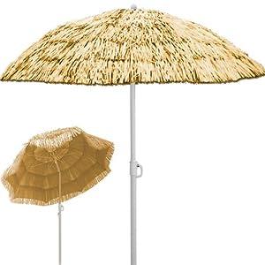 garden parasol umbrella sun shade tilt function height190cm diameter180cm beige hawai