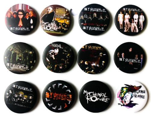 "The Bigger Vivider 1.75"" Lot 12 Awesome Pin Button Badge My Chemical Romance #1"
