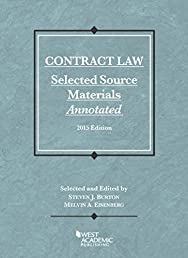 Contract Law, Selected Source Materials Annotated, 2015 Edition (Selected Statutes)