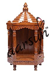 Aarsun Hand-carved Teak Wood Temple