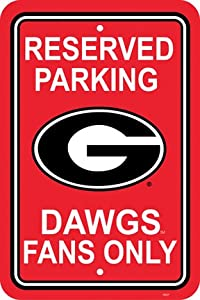 Georgia Bulldogs Plastic Parking Signs Set Of 2 - Parking Sign Georgia