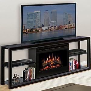 Dimplex Novara Indoor Electric Fireplace Media Console Black Smokeless Fireplaces