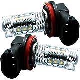 GTX(ジーティーエックス) LEDバルブ ホワイト 80W H16 6000K フォグランプ専用 プリウス アクア 600系タント/タントカスタム 80系ノア