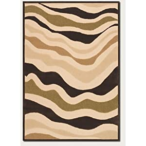 Couristan 5729/0029 URBANE Heat Wave 62-Inch by 90-Inch Polypropylene Area Rug, Sand/Brown (Discontinued by Manufacturer)