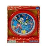 MICKEY ROCK STAR DISNEY 10 WALL CLOCK: Mickey Mouse Club House Wall Clock Quartz Accuracy, Easy Wall Mounting. Battery Operated Requires 1 AA Battery (Not Included