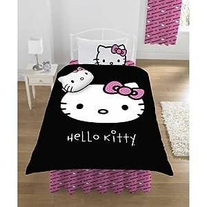 Housse de Couette Hello Kitty Noire