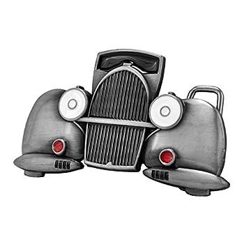 Buckle Rage Adult Unisex Classic Car Antique Truck Automobile Belt Buckle Silver
