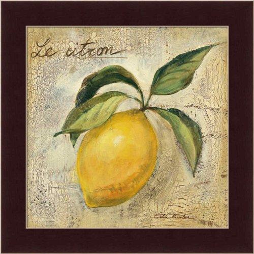 Le Citron Lemon by Silvia Vassileva Contemporary Kitchen Wall Art Print Framed Décor (Fruit Art compare prices)