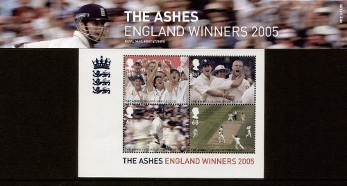 2005 Cricket, The Ashes, England Winners Stamps in Presentation Pack