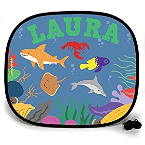 123t ANI-MATES UNDER THE SEA WHALE SHARK PARTY PERSONALISED Sunshade x 2