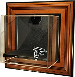 NFL Atlanta Falcons Mini-Helmet Case-Up Display Case, Brown by Caseworks