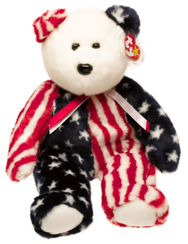 Ty Beanie Buddies - Spangle the American Bear