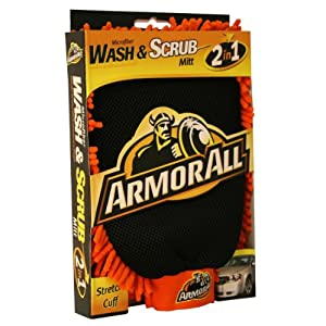 ArmorAll 6307 Microfiber 2 in 1 Wash and Scrub Mitt