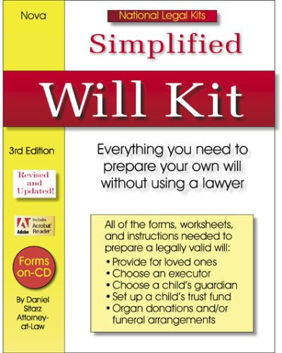 Simplified Will Kit: National Legal Kit Series (Simplified Will Kit (W/CD))