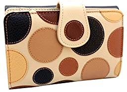 Luxury 100% Genuine High Quality Leather Wallet for Women - Handmade By Craftsmen in Spain - Limited Edition - Fantasy Brown