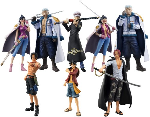 Bandai Tamashii Nations One-Piece Law's Ambition Chozokei Tamashii Action Figure (Set of 8) (Action Figure One Piece compare prices)