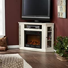 SEI Claremont Media Console with Electric Fireplace