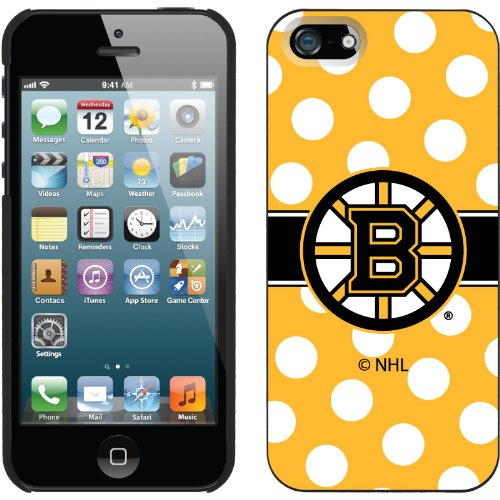 Special Sale Boston Bruins« - Polka Dots design on a Black iPhone 5s / 5 Thinshield Snap-On Case by Coveroo