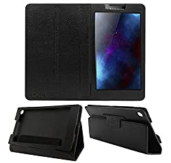 Acm Executive Leather Flip Case For Lenovo Tab 2 A7-30 Tablet Front & Back Flap Cover Stand Holder Black